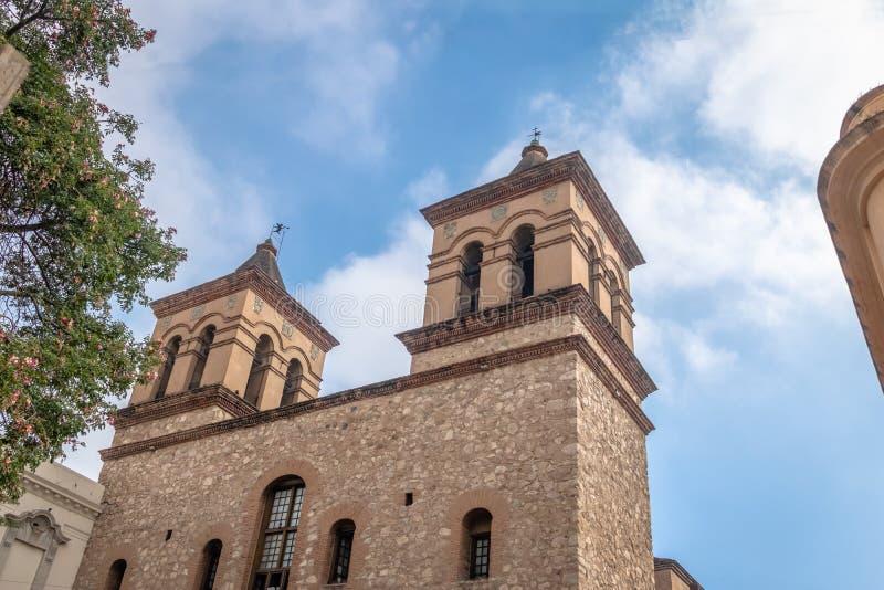 耶稣会Iglesia de la Manzana Jesuitica块的-科多巴,阿根廷Compania德赫苏斯的阴险的人教会 免版税库存图片