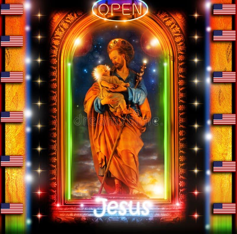 耶稣冷静 免版税库存图片