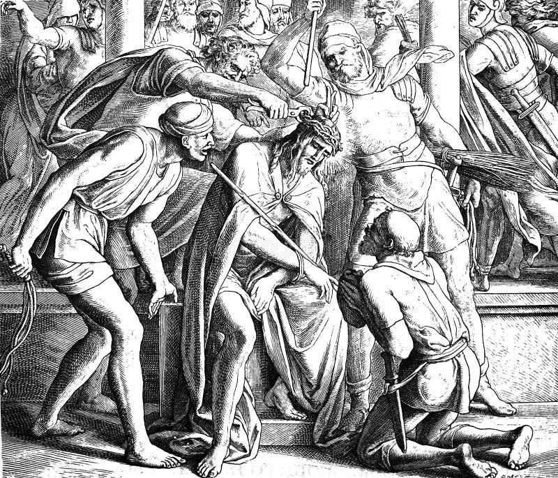耶稣加冠了与刺 免版税图库摄影