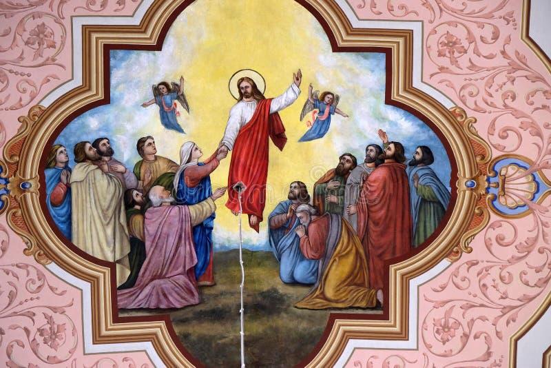 耶稣升天 图库摄影