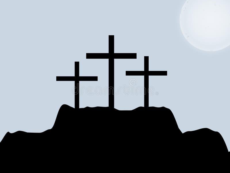耶稣受难节背景 皇族释放例证