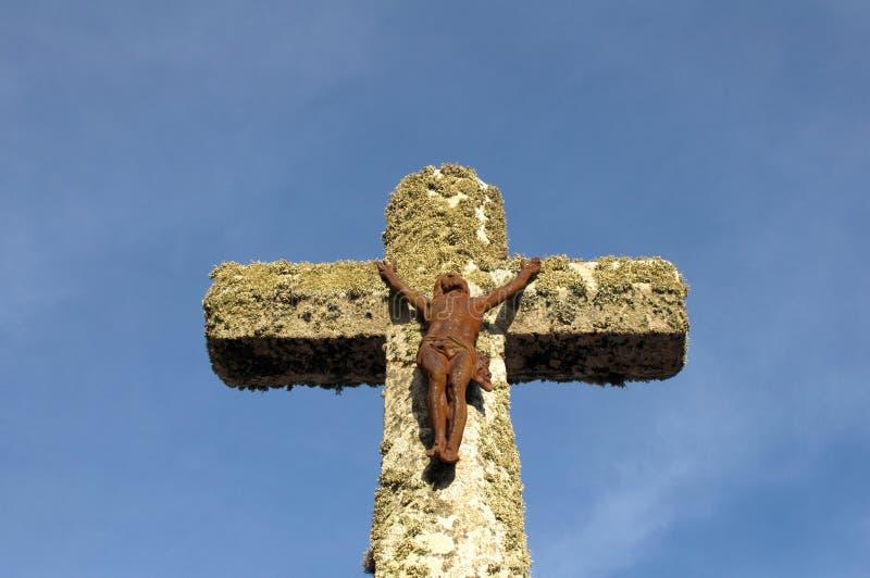 耶稣受难象铁耶稣 免版税图库摄影