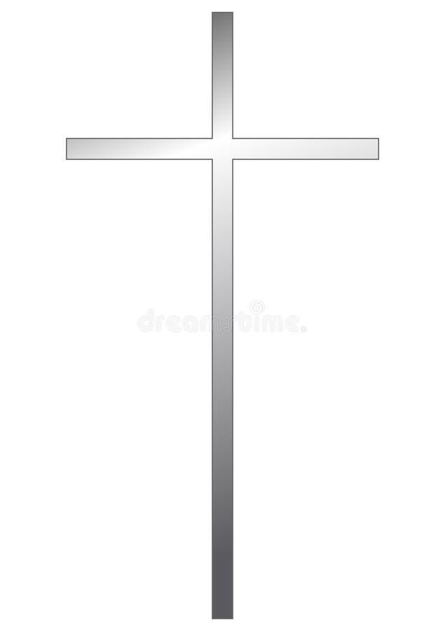 耶稣受难象银 向量例证
