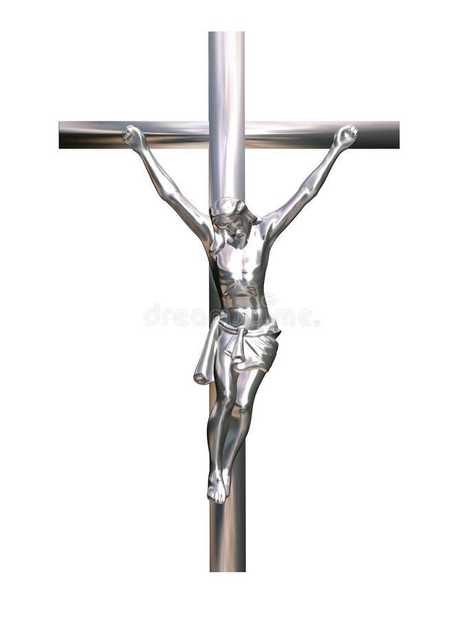 耶稣受难象 库存例证