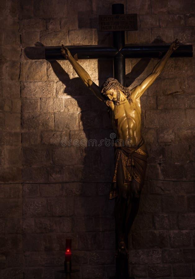 耶稣受难象 免版税图库摄影