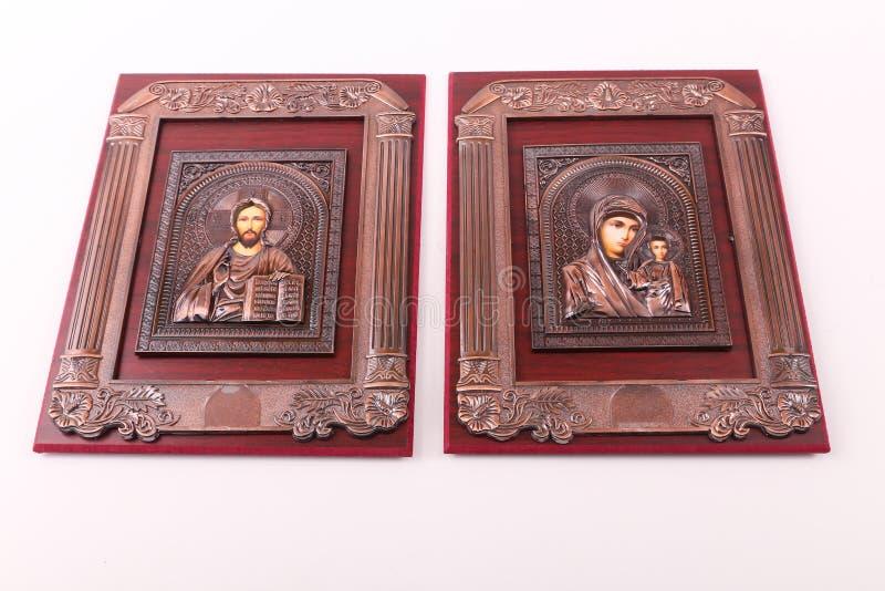 耶稣和圣女玛丽亚 库存图片