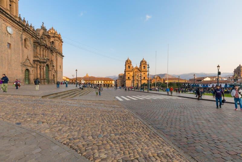 耶稣和大教堂库斯科省秘鲁公司的教会  免版税库存照片