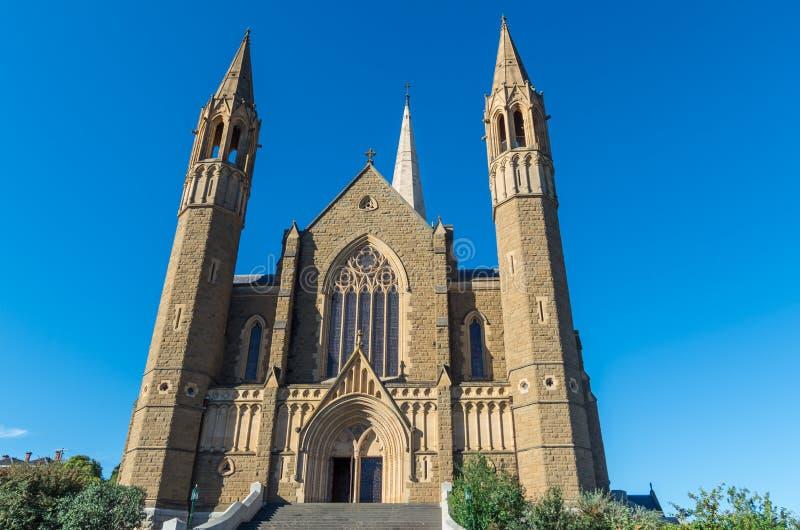 耶稣圣心大教堂在本迪戈,澳大利亚 免版税库存照片