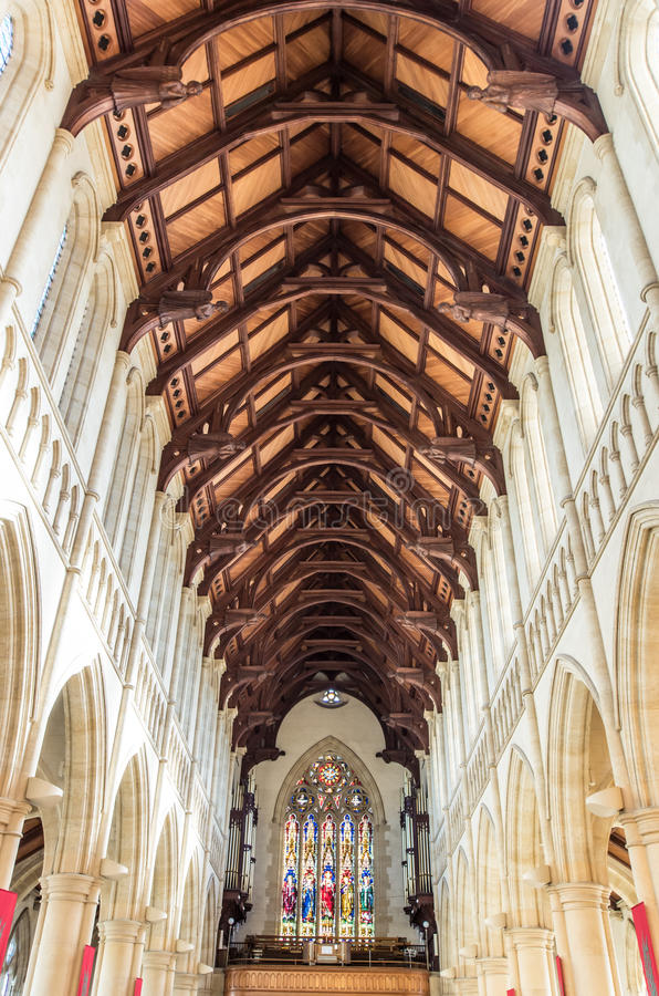 耶稣圣心大教堂在本迪戈,澳大利亚 免版税图库摄影