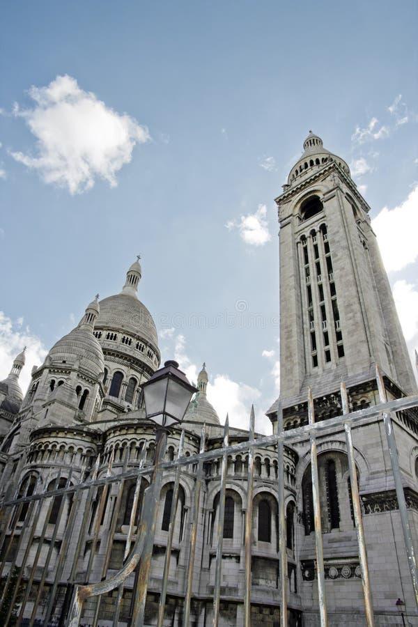 耶稣圣心, Sacre Cœur巴黎(法国)。 库存照片