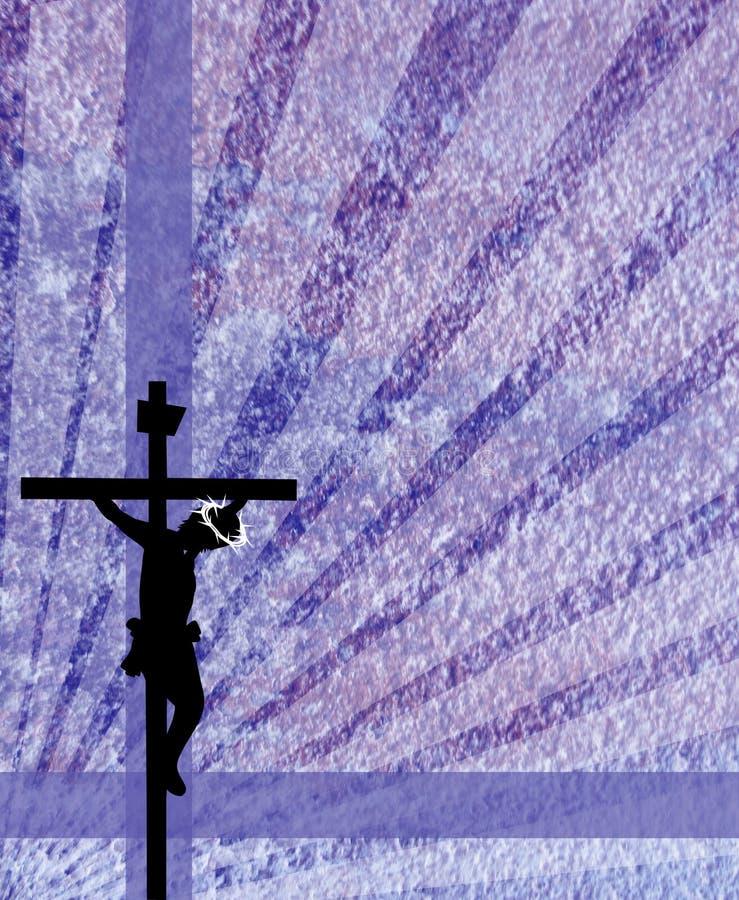 耶稣在十字架上钉死 皇族释放例证