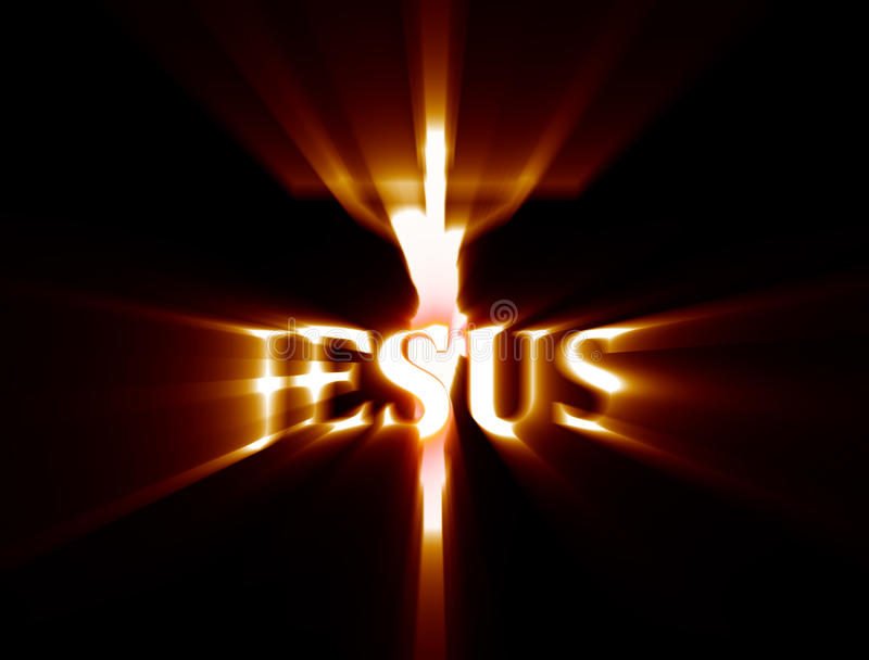 耶稣在十字架上钉死 库存例证