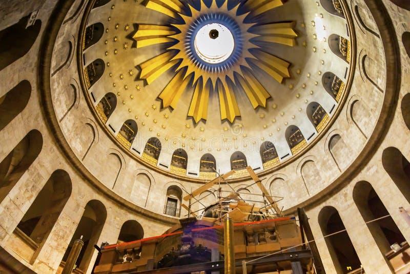 耶稣坟茔建筑教会圣洁坟墓耶路撒冷以色列 免版税图库摄影
