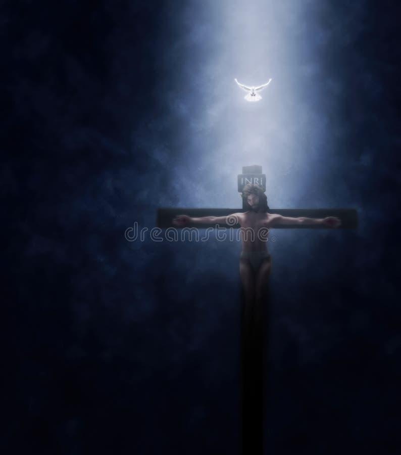 耶稣基督在十字架上钉死例证 皇族释放例证