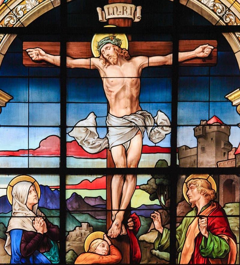 耶稣基督在十字架上钉死基督受难日的 库存图片