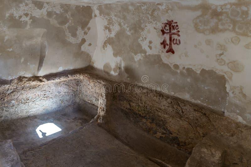 耶稣基督坟茔庭院坟茔的位于东耶路撒冷的耶路撒冷,以色列 免版税库存照片