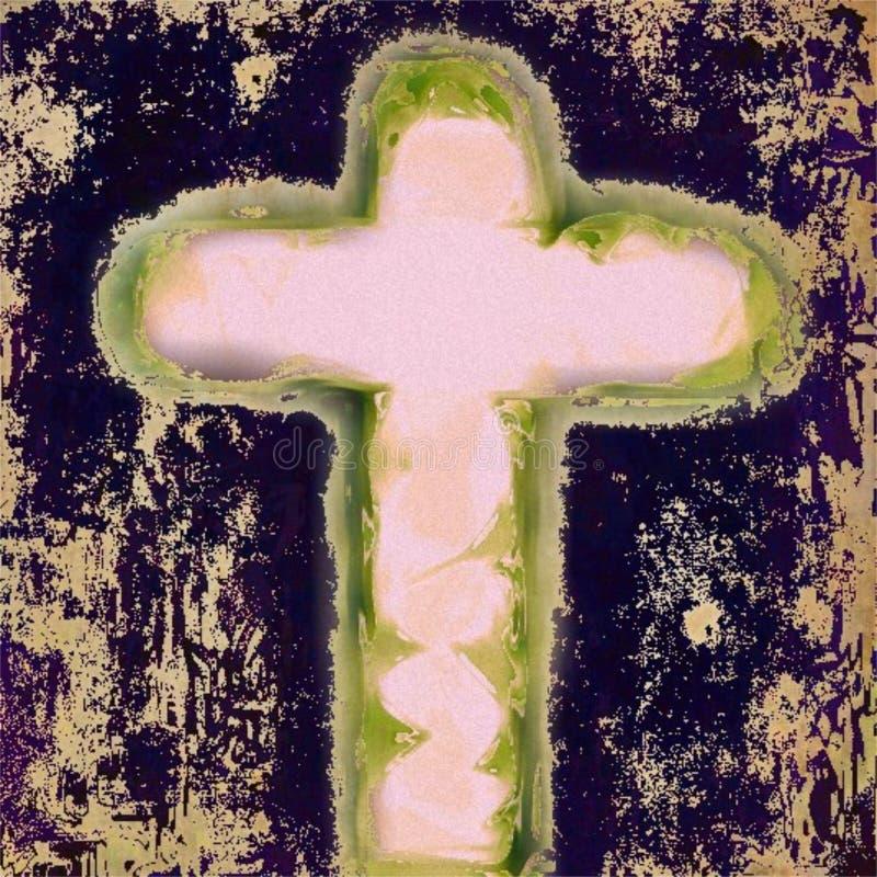 耶稣基督救主十字架  皇族释放例证
