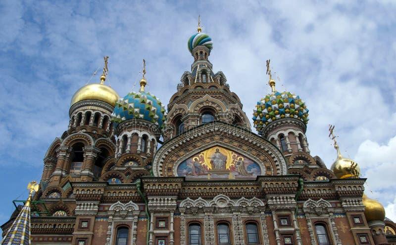 耶稣基督救主的复活的教会血液教会的St的 彼得斯堡, 库存照片