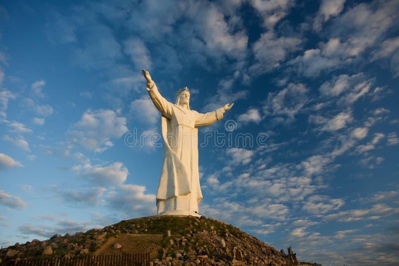 耶稣基督雕象  免版税库存照片