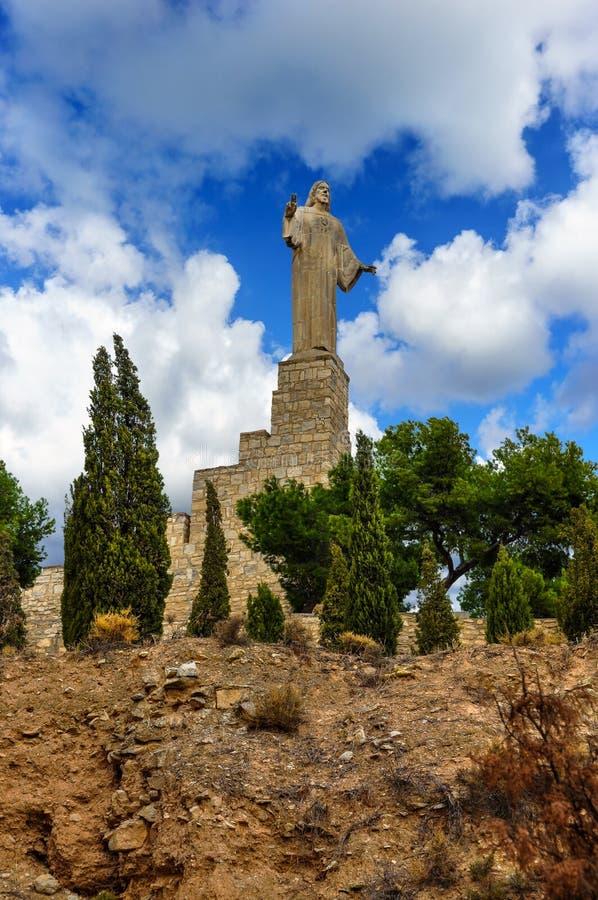 耶稣基督雕象在图德拉,西班牙 免版税库存照片