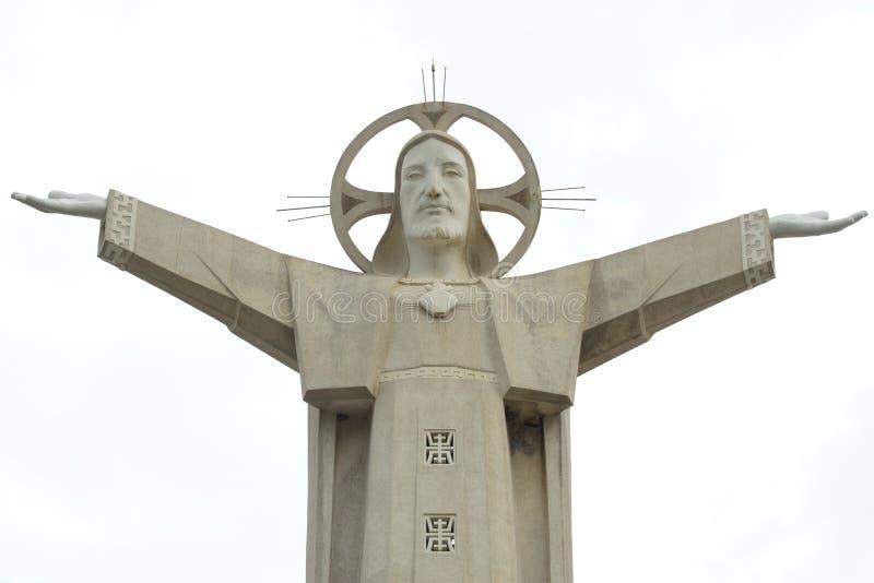 耶稣基督头顿,越南30米雕塑的片段  图库摄影