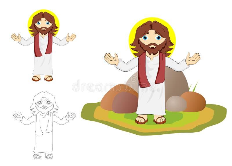 耶稣基督 库存例证