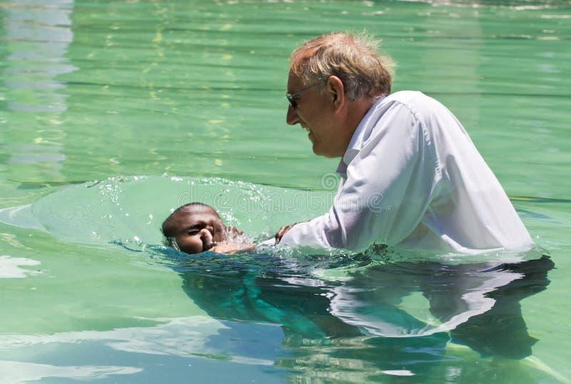 福音传教士洗礼 图库摄影