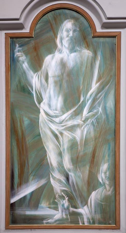 耶稣复活罗马 免版税库存图片
