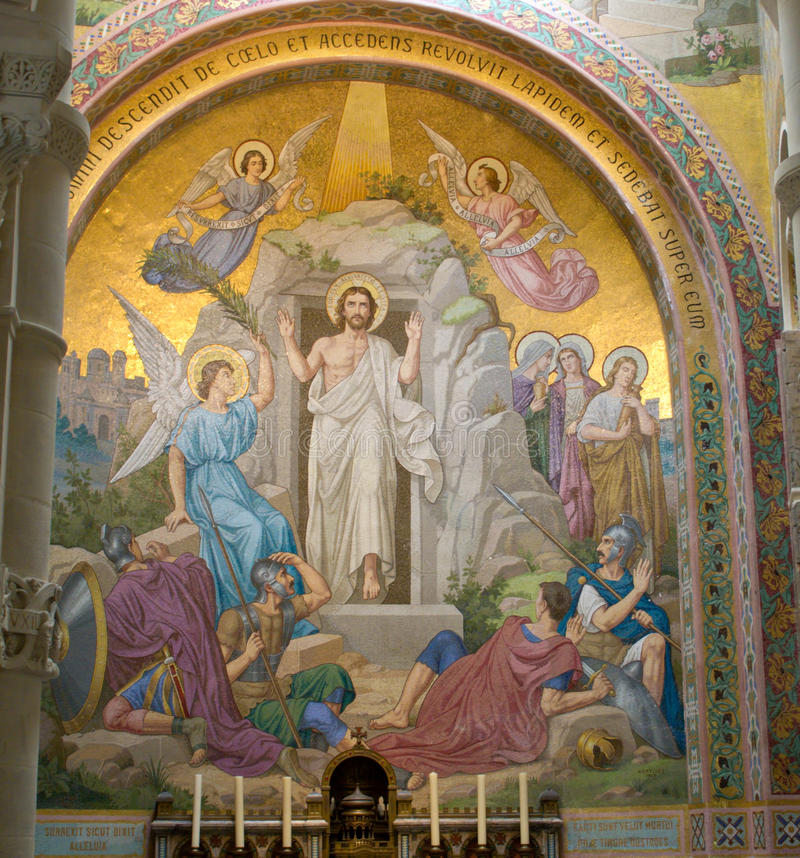 耶稣复活 免版税图库摄影