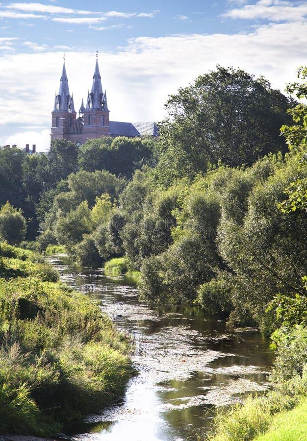 耶稣大教堂,拉脱维亚的Rezekne重点。 免版税库存照片