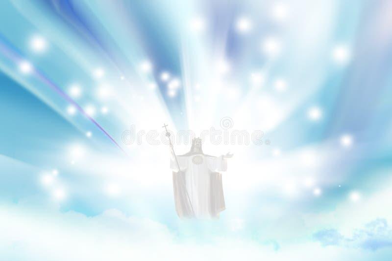 耶稣天堂 免版税库存照片