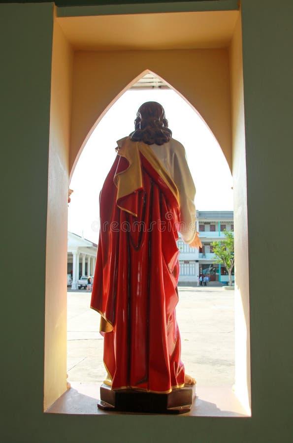 耶稣寺庙amphawa泰国菩萨 库存图片