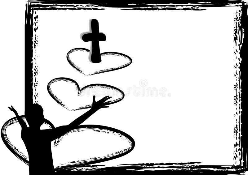 耶稣是爱 库存例证