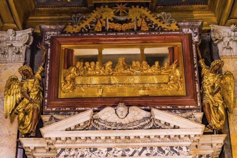 耶稣最后的晚餐大教堂圣约翰Lateran大教堂罗马意大利 免版税库存图片