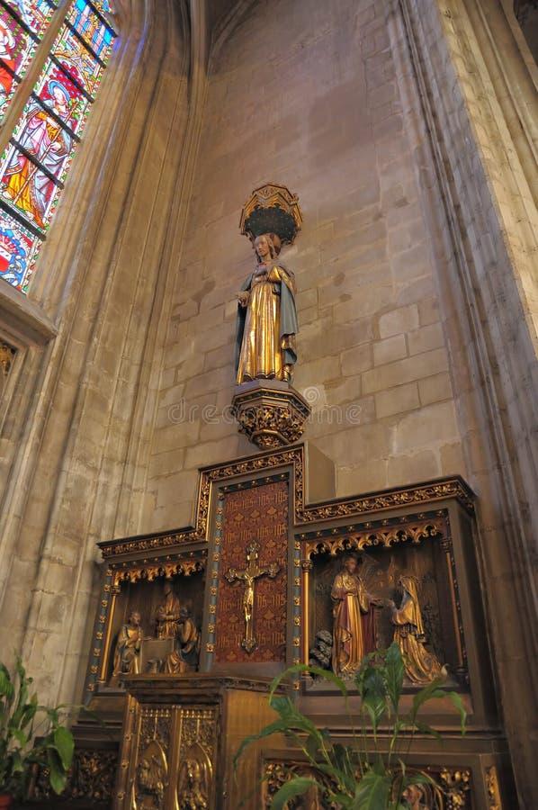 耶稣木雕象  图库摄影