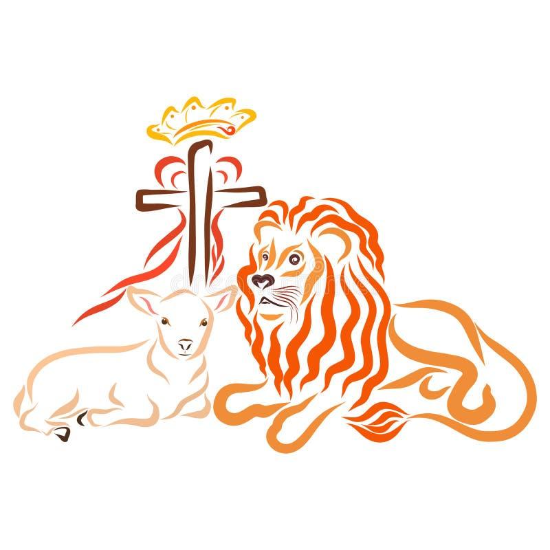 耶稣牺牲和征服者,世界的救主 皇族释放例证