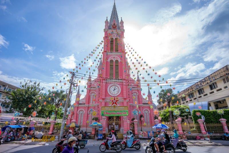 耶稣的耶稣圣心的教会在西贡 免版税库存照片