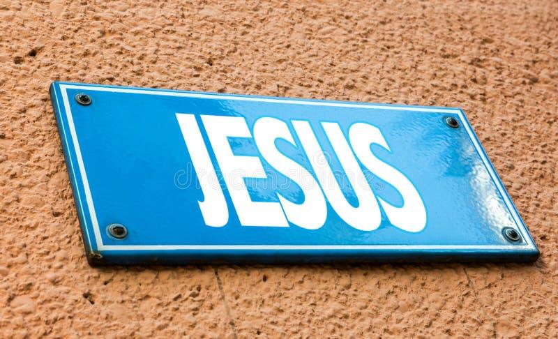 耶稣签到一个概念性图象 免版税库存照片