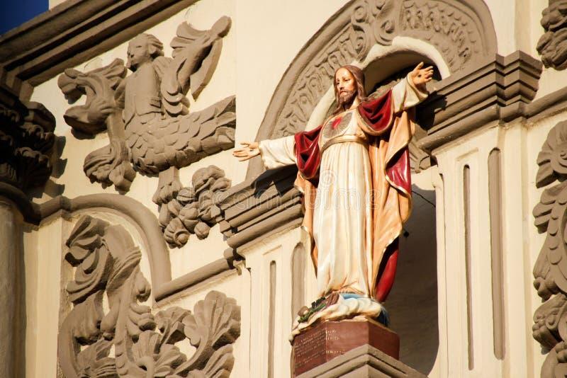 耶稣耶稣圣心在蒙特雷大教堂里 库存照片