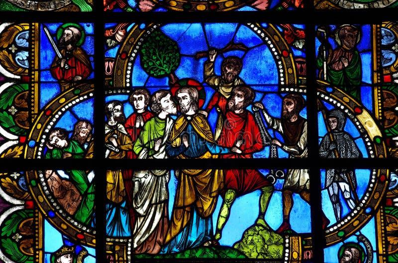 耶稣背叛Judas 图库摄影