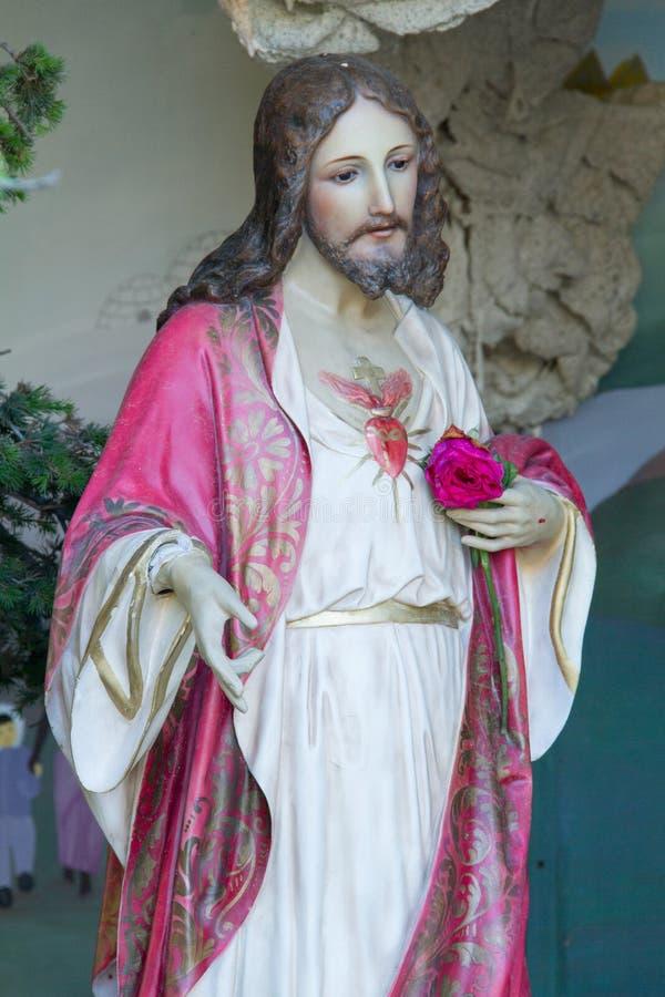 耶稣雕象在博物馆 图库摄影