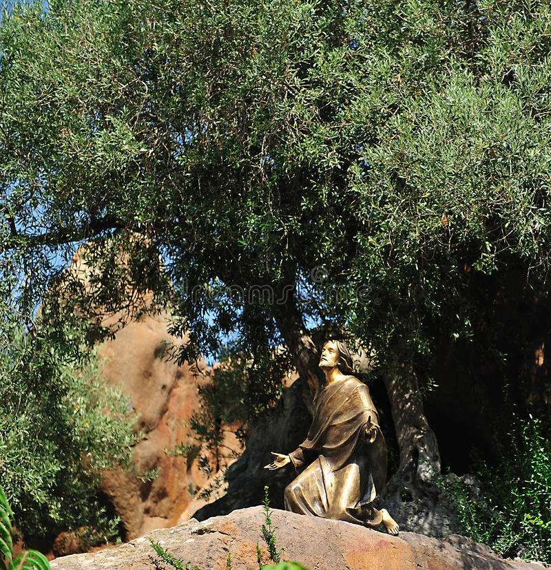 耶稣雕象 免版税图库摄影