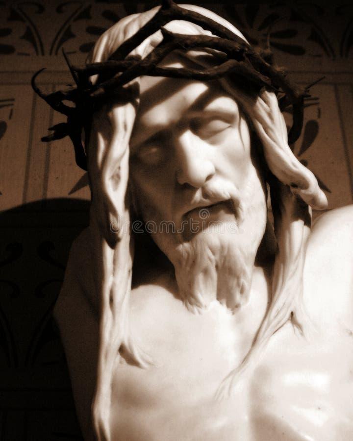 耶稣雕象 库存图片