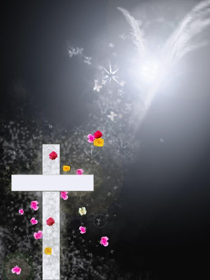 耶稣`死亡和复活十字架的标志 向量例证