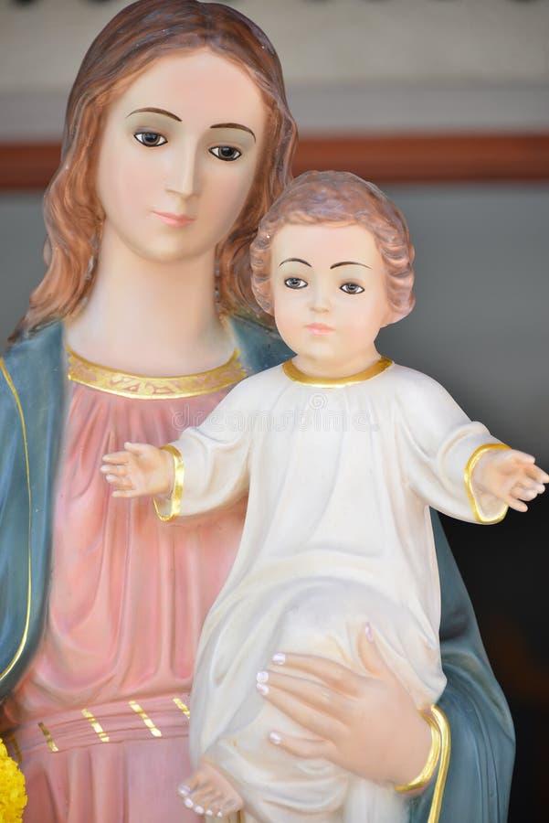 耶稣・玛丽贞女 图库摄影