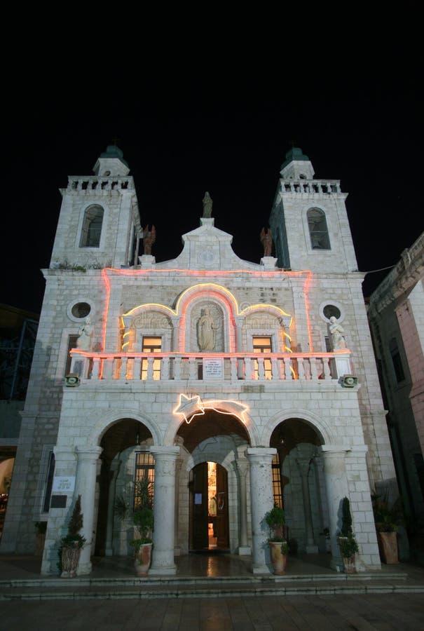 耶稣`第一个奇迹教会在Cana 图库摄影