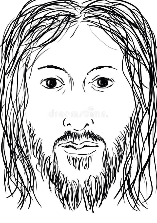 耶稣 库存例证