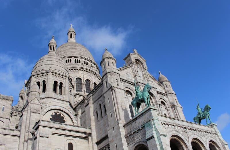 耶稣Sacré-Cœur的大教堂的特写镜头  库存图片