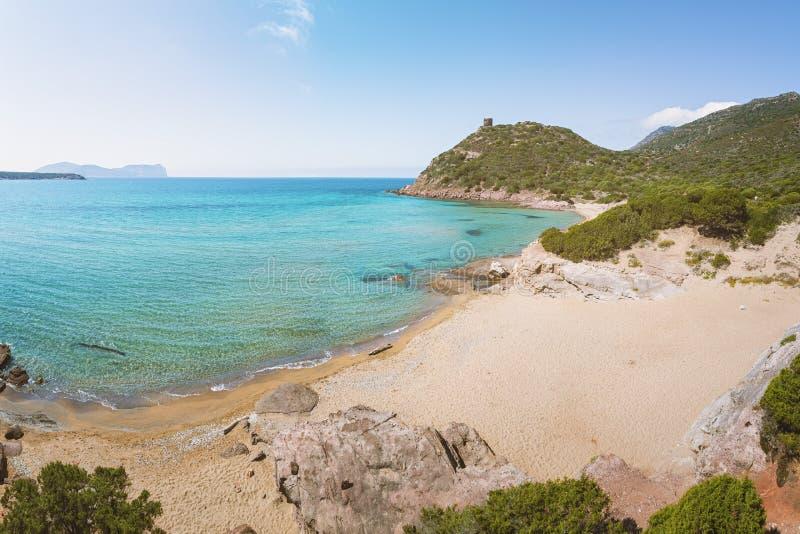 耶老岛的波尔图,撒丁岛,意大利 免版税库存照片