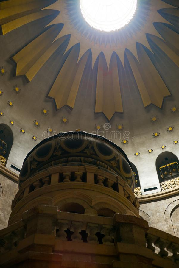 耶路撒冷全景屋顶视图 免版税库存图片